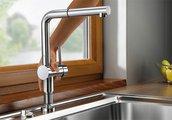 Смеситель кухонный однорычажный для установки перед окном, хром Blanco LINUS-F 514025