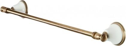 Держатель для полотенец 58см, белый/бронза TW Harmony TWHA011bi/br