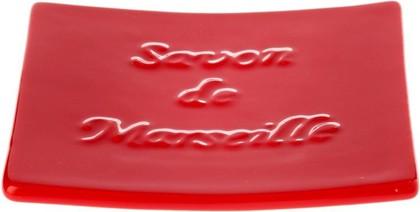 Мыльница керамическая красная Spirella Savon De Marseille 4007262