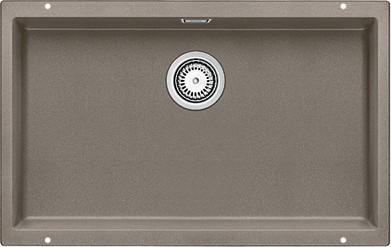 Кухонная мойка без крыла, с клапаном-автоматом, гранит, серый беж Blanco Subline 700-U 517437