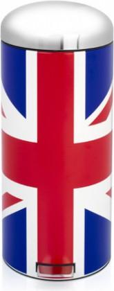 Мусорный бак 30л с педалью, Union Jack Brabantia Retro Bin 480362