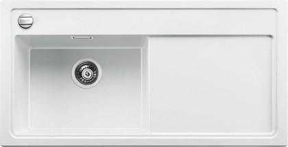 Кухонная мойка чаша слева, крыло справа, с клапаном-автоматом, гранит, белый Blanco Zenar XL 6 S-F 519201