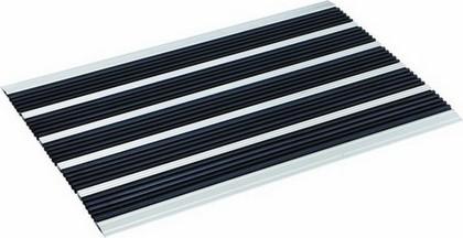 Коврик придверный 40x60см для улицы чёрный, резина / алюминий Golze ELEGANT MAT 1870-15-44