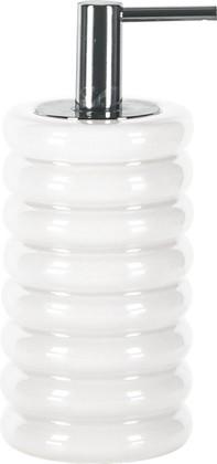 Ёмкость для жидкого мыла керамическая белая Kleine Wolke Lipsy 5801100854