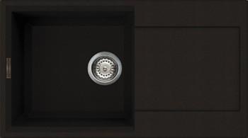 Кухонная мойка оборачиваемая с крылом, гранит, тёмный шоколад Omoikiri Sakaime 78-DC 4993195