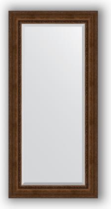 Зеркало с фацетом в багетной раме 82x172см состаренная бронза с орнаментом 120мм Evoform BY 3611
