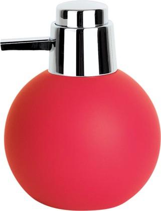 Spirella Ёмкость для жидкого мыла BOWL RUBBER с дозатором, красная, артикул 1015321