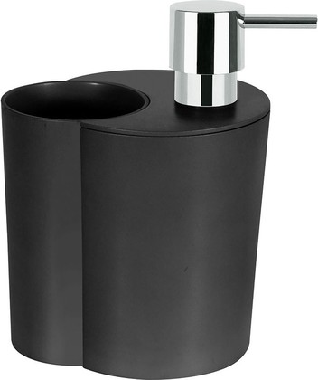 Набор: стакан и ёмкость для жидкого мыла, чёрный Spirella SUN&MOON 1018147