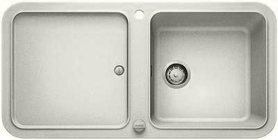 Кухонная мойка оборачиваемая с крылом, с клапаном-автоматом, гранит, жемчужный Blanco YOVA XL 6 S 520611