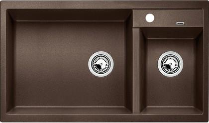 Кухонная мойка основная чаша слева, без крыла, гранит, кофе Blanco Metra 9 515050