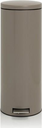 Мусорный бак 20л высокий с педалью, MotionControl, серо-коричневый Brabantia Slim 478666