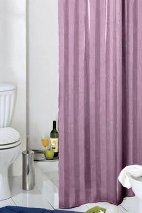 Штора для ванны 240x200см текстильная лиловая с кольцами Grund RIGONE 804.99.178