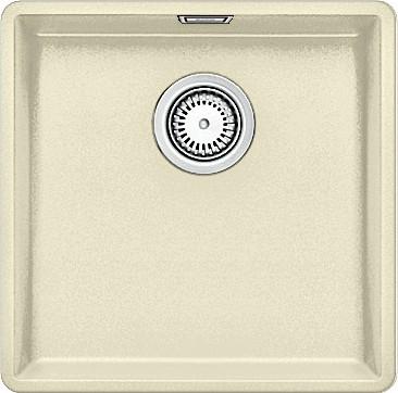 Кухонная мойка без крыла, с клапаном-автоматом, гранит, жасмин Blanco SUBLINE 400-F 519800