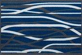 Коврик придверный 50x78см для помещения синие полосы, полиамид Golze CONTZEN MATS WHISPERING GRASS 1700-40-002-041