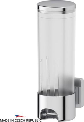 Контейнер для косметических дисков прозрачный с хромированным настенным держателем Ellux AVANTGARDE AVA 060