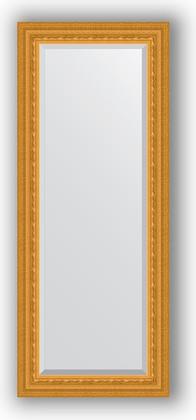 Зеркало 55x135см с фацетом 30мм в багетной раме сусальное золото Evoform BY 1254
