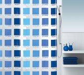 Штора для ванны 180x200см сине-голубая Spirella CUBIST 1015208