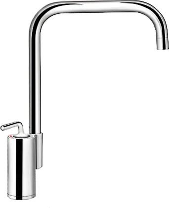 Кухонный однорычажный смеситель в высоким изливом, хром Blanco AJARIS 520814