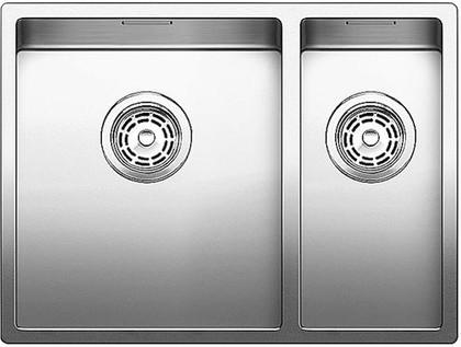 Кухонная мойка основная чаша слева, без крыла, нержавеющая сталь зеркальной полировки Blanco Claron 340/180-U 517226