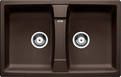 Кухонная мойка оборачиваемая без крыла, гранит, кофе Blanco Lexa 8 515063