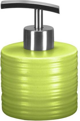 Ёмкость для жидкого мыла низкая керамическая зелёная Kleine Wolke Sahara 5046625849