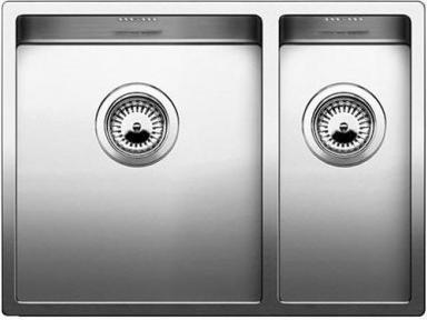 Кухонная мойка основная чаша слева, без крыла, нержавеющая сталь зеркальной полировки Blanco Claron 340/180-IF 517224