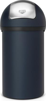 Мусорный бак с нажимной крышкой 60л тёмно-синий Brabantia Push Bin 402647