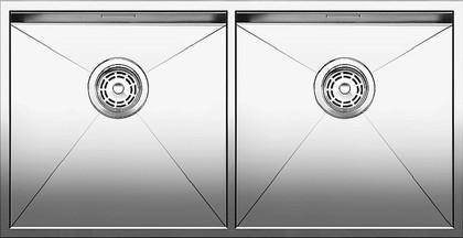 Кухонная мойка без крыла, нержавеющая сталь зеркальной полировки Blanco Zerox 400/400-IF 517258