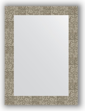 Зеркало в багетной раме 56x76см соты титан 70мм Evoform BY 3052