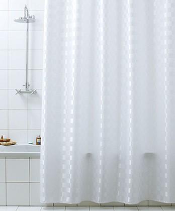 Штора для ванны 180x200см белая с кольцами 12шт Grund QUADRETTO 2124.98.032