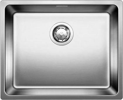 Кухонная мойка без крыла, оборачиваемая с клапаном-автоматом, нержавеющая сталь зеркальной полировки Blanco Andano 500-U 518314