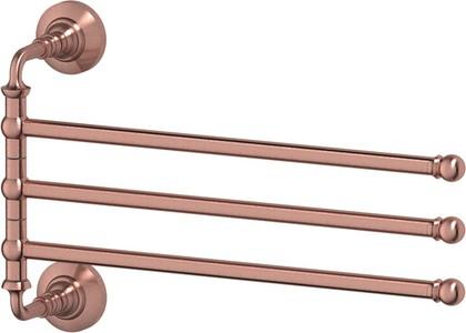 Держатель для полотенец 3SC, поворотный, тройной, античная медь STI 611