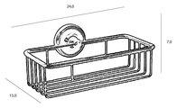 Полочка-решётка для ванной прямоугольная 24x14x7см, золото TW Bristol TWBR527oro
