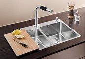 Кухонная мойка без крыла, с клапаном-автоматом, нержавеющая сталь полированная Blanco Andano 340/180-IF/A 519558