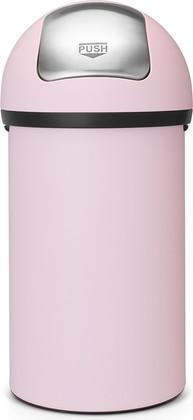 Мусорный бак с нажимной крышкой 60л розовый Brabantia Push Bin 402708