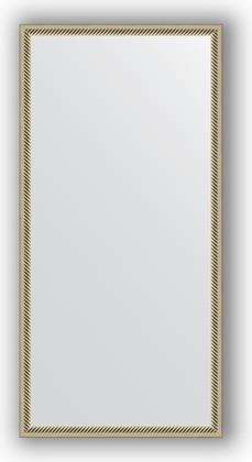 Зеркало 48x98см в багетной раме витое серебро Evoform BY 0691
