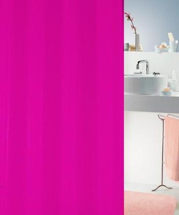Штора для ванной комнаты 180x200см текстильная, фуксия Spirella ATLAS 4005710