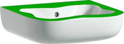 Мини-раковина 450x410мм, белая с зелёным Laufen FLORAKIDS 8.1503.1.072.104.1