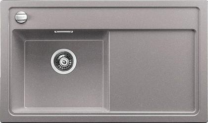 Кухонная мойка чаша слева, крыло справа, с клапаном-автоматом, гранит, алюметаллик Blanco Zenar 45 S-F 519192