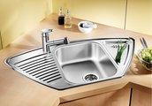 """Кухонная мойка крыло слева, нержавеющая сталь """"декор"""" Blanco Tipo 9 E 513552"""
