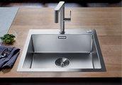 Кухонная мойка Blanco Claron 400-IF/A, отводная арматура, матовая сталь 523392