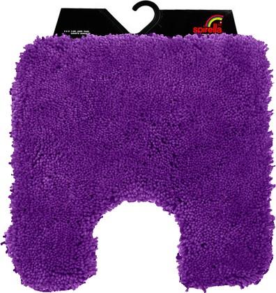 Коврик для туалета 55x55см фиолетовый Spirella HIGHLAND 1013075