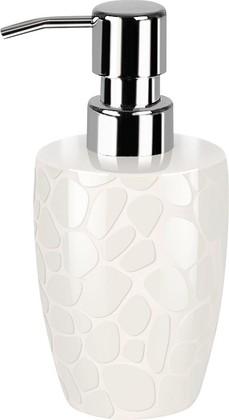 Дозатор для жидкого мыла Spirella Darwin Pebble, керамика, отдельностоящий, белый 1014657