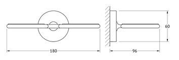 Стаканчики настенные, матовый хрусталь / хром Ellux ELE 007/ELU 002