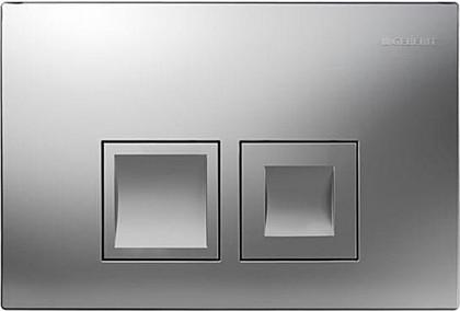 Кнопка двойного смыва для инсталляции, хром матовый Geberit Delta50 115.135.46.1