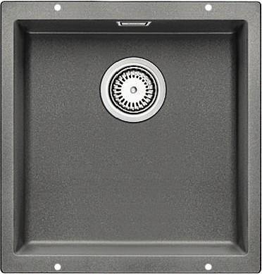Кухонная мойка без крыла, с клапаном-автоматом, гранит, алюметаллик Blanco SUBLINE 400-U 515753