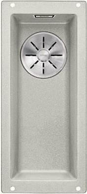Кухонная мойка Blanco Subline 160-U, без крыла, отводная арматура, гранит, жемчужный 523399