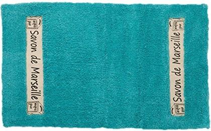 Коврик для ванной комнаты хлопковый 50x80см голубой Spirella Savon De Marseille Canebiere 4007285