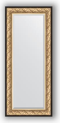 Зеркало 65x150см с фацетом 30мм в багетной раме барокко золото Evoform BY 1271