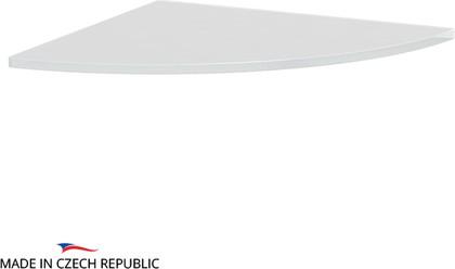 Полка угловая 26см, матовое стекло Ellux ELU 023